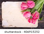 Pink Tulips And Vintage Paper ...