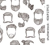 man hairstyle. set of hand...   Shutterstock .eps vector #406915915