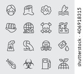 pollution line icon | Shutterstock .eps vector #406918315