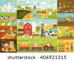farming infographic set with... | Shutterstock .eps vector #406921315