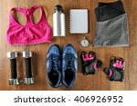 athlete's set with female... | Shutterstock . vector #406926952