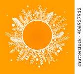 illustration of wreath of... | Shutterstock .eps vector #406927912
