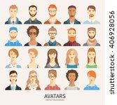 set of avatar icons. | Shutterstock .eps vector #406928056