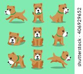 cartoon character alabai dog... | Shutterstock .eps vector #406929652