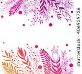 floral background  invitation... | Shutterstock .eps vector #406929736