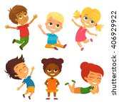vector illustration of happy... | Shutterstock .eps vector #406929922