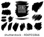 set of black ink vector stains | Shutterstock .eps vector #406931866