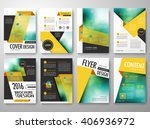 set of flyers design template... | Shutterstock .eps vector #406936972