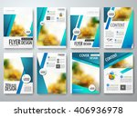 set of flyers design template... | Shutterstock .eps vector #406936978