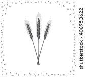 ears of wheat  barley or rye... | Shutterstock .eps vector #406953622