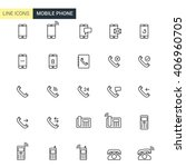 vector set mobile phone line... | Shutterstock .eps vector #406960705
