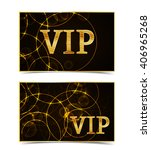 vip gold text  black and black... | Shutterstock .eps vector #406965268