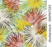 abstract palm print  seamless... | Shutterstock . vector #406967242