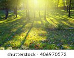 sunlight park forest landscape | Shutterstock . vector #406970572