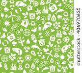 seamless pattern with eco icons ... | Shutterstock . vector #406970635