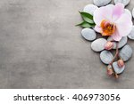 orchid theme objects on the... | Shutterstock . vector #406973056