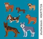 vector illustration of dog... | Shutterstock .eps vector #406975726
