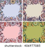floral frames collection | Shutterstock .eps vector #406977085