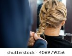cropped image of hairdresser... | Shutterstock . vector #406979056