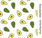 green exotic avocado pattern... | Shutterstock .eps vector #406985356