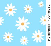 Chamomile On A Light Blue...