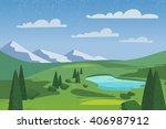 vector nature landscape... | Shutterstock .eps vector #406987912