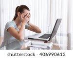 stress at work. | Shutterstock . vector #406990612