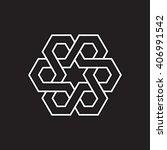 orient ornament. minimal... | Shutterstock .eps vector #406991542