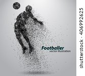 silhouette of a football player ... | Shutterstock .eps vector #406992625