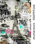 paris  france. vintage...   Shutterstock . vector #406995166