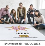 ideas strategy thoughts vision... | Shutterstock . vector #407001016