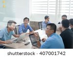 asian business people group... | Shutterstock . vector #407001742