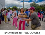quito  ecuador   april 17  2016 ... | Shutterstock . vector #407009365