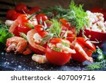 Red Tomatoes Stuffed With...