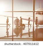 business people traveling... | Shutterstock . vector #407011612