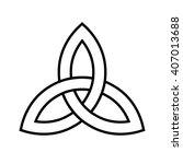 celtic trinity knot . vector... | Shutterstock .eps vector #407013688