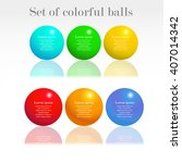 set of 6 colorful infographic... | Shutterstock .eps vector #407014342