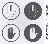 hand icon in circle . vector... | Shutterstock .eps vector #407015686