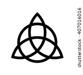 triquetra symbol . vector... | Shutterstock .eps vector #407016016