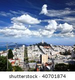 the coit tower in san francisco ... | Shutterstock . vector #40701874