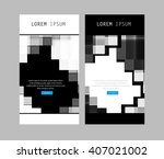 business layout paper easy...   Shutterstock .eps vector #407021002