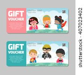 gift voucher template and... | Shutterstock .eps vector #407023402