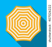 beach umbrella icon in a flat... | Shutterstock .eps vector #407026222