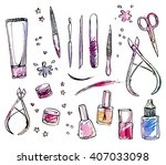 vector image set of tools for... | Shutterstock .eps vector #407033098