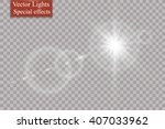 vector transparent sunlight... | Shutterstock .eps vector #407033962
