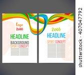 abstract vector template design ... | Shutterstock .eps vector #407047792