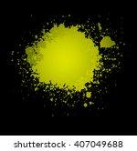 abstract yellow ink splash...   Shutterstock .eps vector #407049688