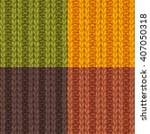 set of double ribbing stitch...   Shutterstock .eps vector #407050318