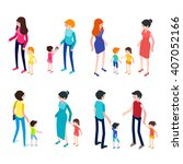 isometric people isolated on... | Shutterstock .eps vector #407052166