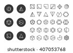 collection of thin 30 icons 6... | Shutterstock .eps vector #407053768